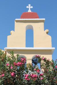 kirchturm auf korfu