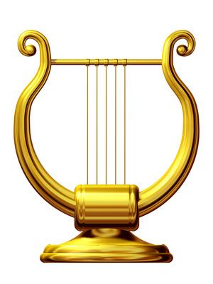 Goldene Lyra - eines der antiken Musikinstrumente