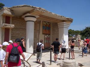 Der Palast von Knossos auf Kreta