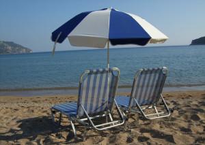 Sonnenschirm auf Korfu