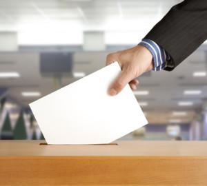 Wahlabstimmung an der Urne