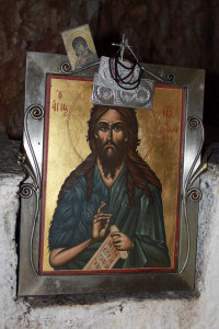 Ikone eines Heiligen auf Kreta