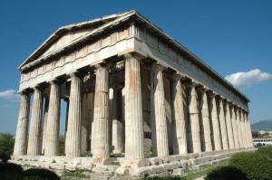 Der Hephaistos Tempel in Athen