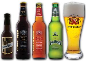 Die fünf Sorten Corfu Beer