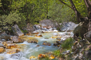 Der Fluss Pozar in Nordgriechenland