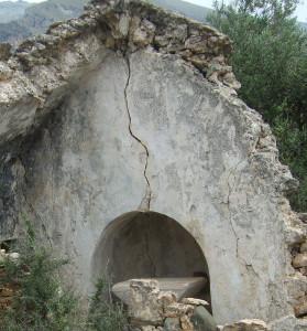 Diese Kirche auf Kreta wurde durch ein Erdbeben völlig zerstört.