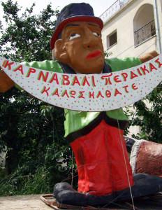 Karnevalsfigur in Perdika auf dem Epirus
