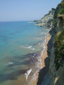 Panorama an der Südküste von Korfu