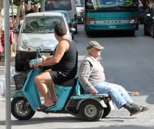Alltag im Strassenverkehr auf Kreta