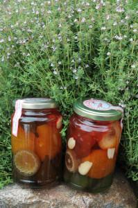 Gliko Koutaliou (Löffelsüßigkeiten) als Souvenir vom Pilion
