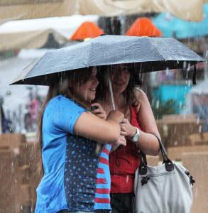 Shoppen im Regen