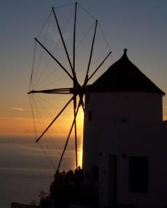 Windmühle in Ioa auf Santorini